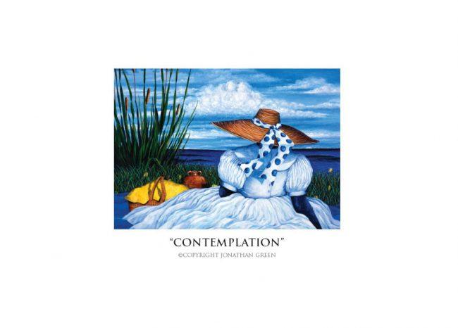 Contemplation notecard