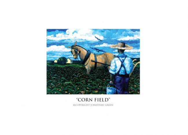 Corn Field notecard