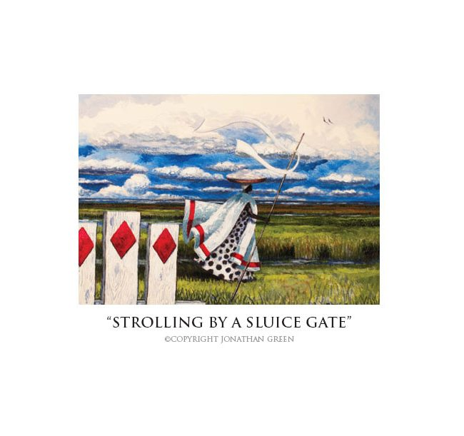 Strolling by a Sluice Gate notecard