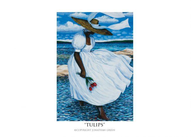 Tulips notecard