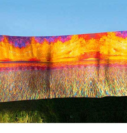 Marshland Landscape Shawl