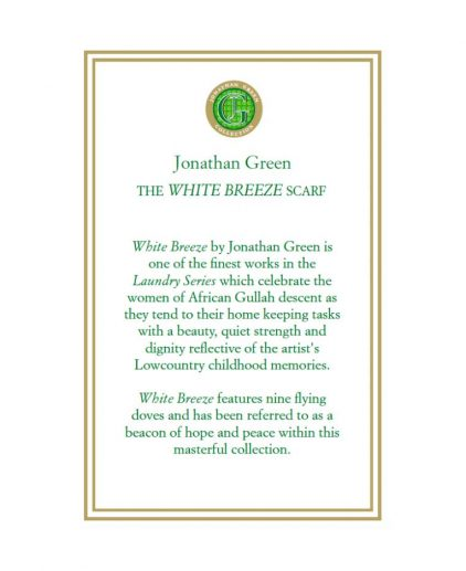 White Breeze Scarf by Jonathan Green